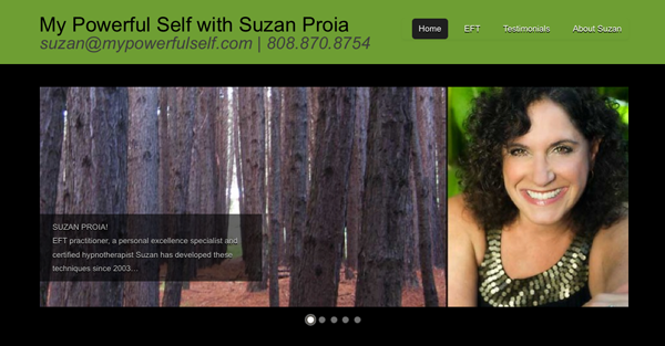 Suzan Proia is a Certified EFT Practitioner on Maui